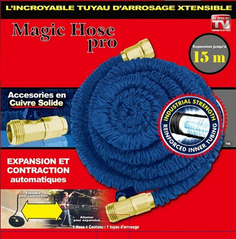 manguera expandible metalica x hose magic pro +pistola +15m