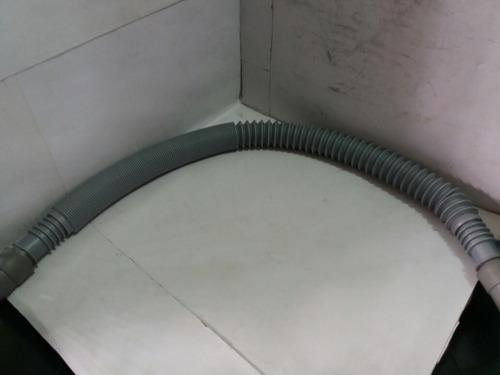 manguera gris delgada flexible p/ lavadora 1,30 mts