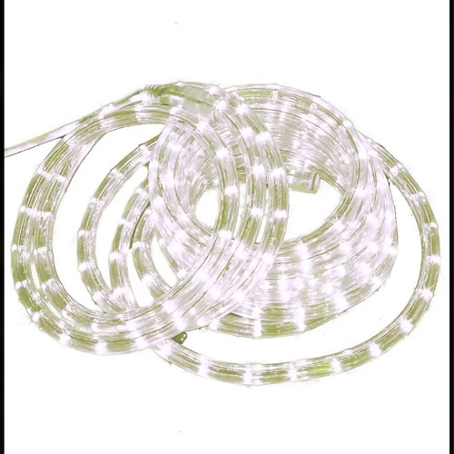 manguera led calida tira 10 mts siliconada uso exterior /int
