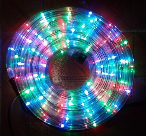 manguera led color multicolor 10 metros navidad decoración