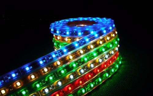 manguera luz led unicolor rgb 5050 directo 110 voltios