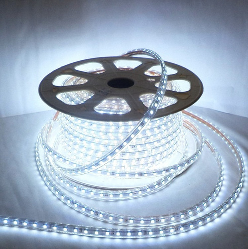 manguera luz led unicolor rgb 5050 ip67 directo 110 voltios