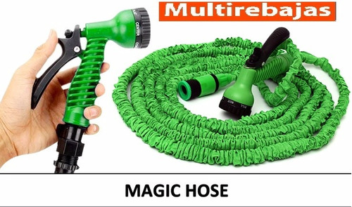 manguera magic hose expandible 15mts + pico regador