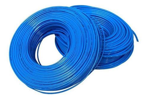 manguera para aire (tubing) de poliuretano azul 6mm 25 mts