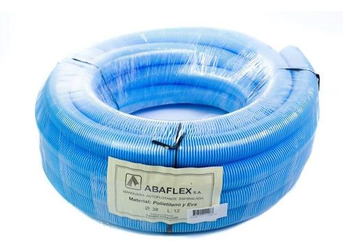 manguera piscinas 8 mts flotante abaflex de 1 1/2 ''