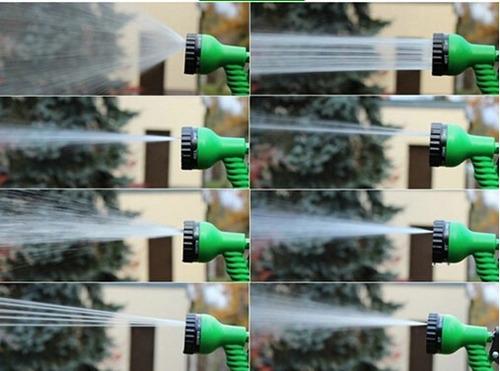 manguera plana expandible magic hose 15mts + pico regador ,