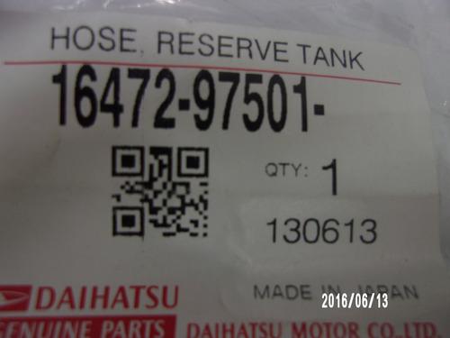 manguera radiador daihatsu sparky original 1647297501