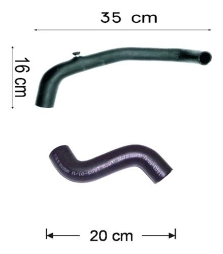manguera radiador superior e inferior ford fiesta 1.8 d94/96