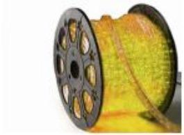 manguera rectangular de led alien 50 mtos amarilla   55-854