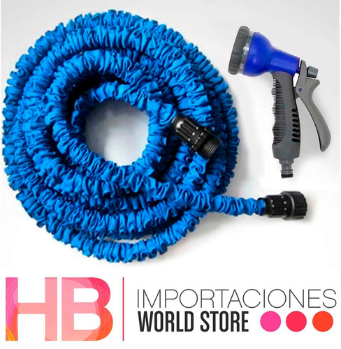 manguera retractil 22,5 m +piton+adaptador / hb importacione