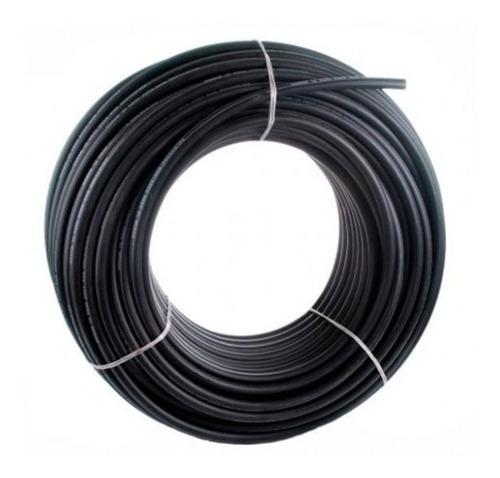 manguera riego negra reforzada polietileno 1/2'' pulgadas k4 rollo 50 metros