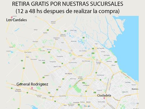 manguera riego tecnocom mtl1325 trenzada azul 1/2 x 25