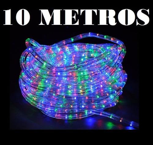 manguera tira de led 10 mtrs blanca/multicolor exterior n2m