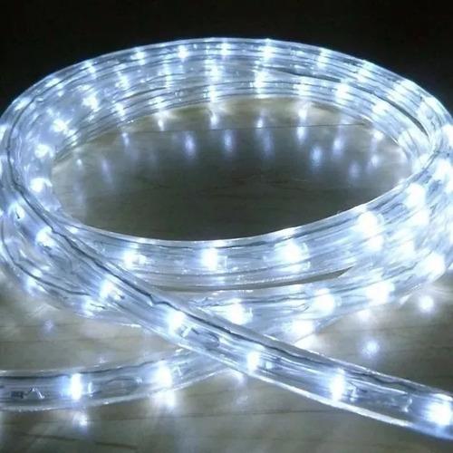 manguera tira de luz led blanco frio 10 metros con efectos