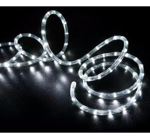 manguera tira de luz led blanco frio 10 mts con efectos