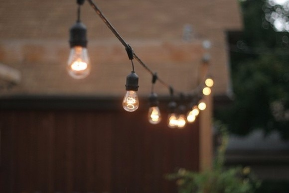 Manguera tira serie luces vintage luz c lida for Focos para exterior jardin