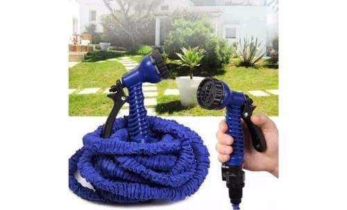 manguera x hose expandible de 30 metros + pistola 7 chorros