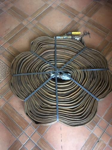 mangueras flexibles seminuevas tipo bombero