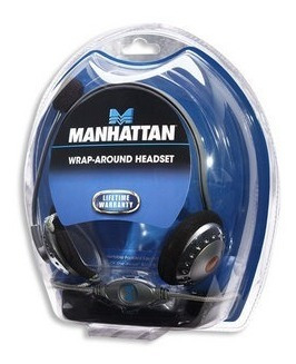 manhattan 164429 headset con microfono (chat, music, juegos)