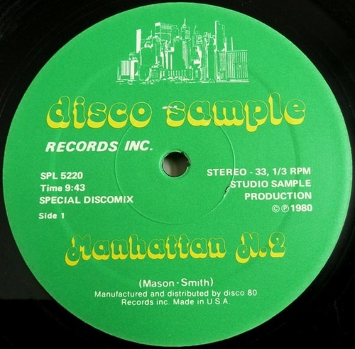 manhattan n.2 mixer special (musica disco mezclada) dj 80's.