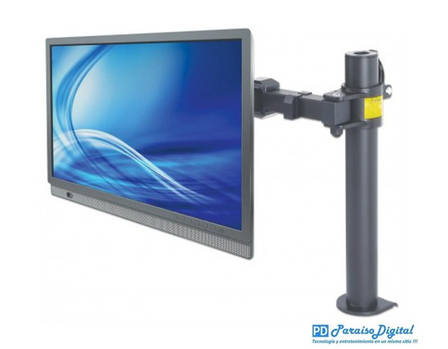 manhattan soporte de monitor 13 a 30 escritorio brazo doble