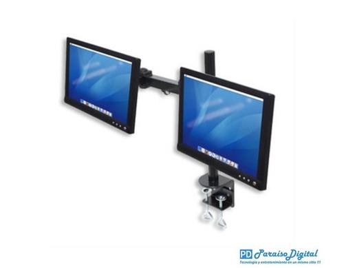 manhattan soporte para 2 monitores escritorio