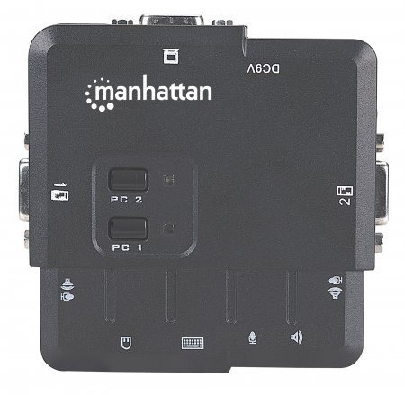 manhattan switch kvm compacto de 2 puertos usb neg 151252 /m