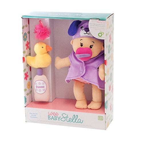 manhattan toy wee baby stella 12 baby doll y set de baño
