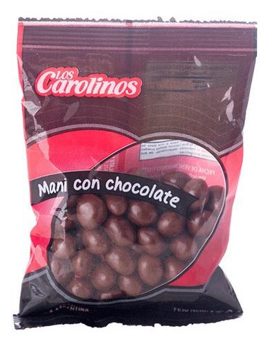 mani con chocolate semiamargo los carolinos x 80 gr