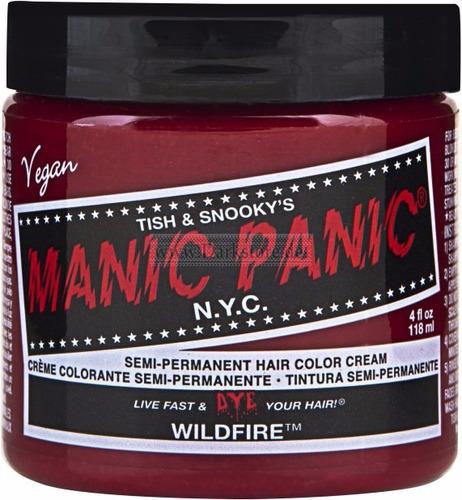 manic panic tinta semi permanente das famosas wildfire