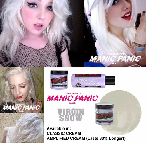 manic panic tinta semi permanente virgin snow n.y.c