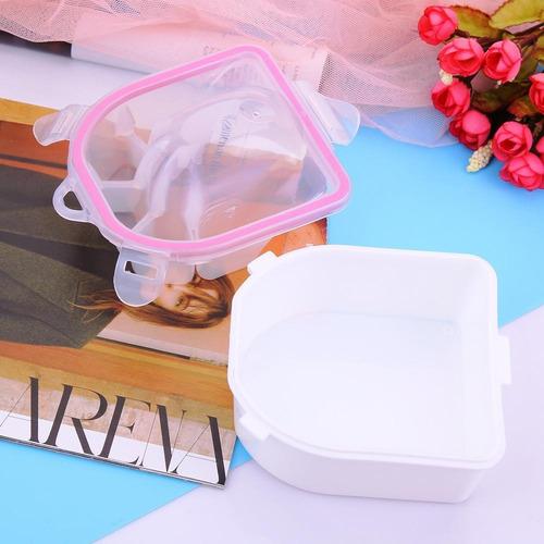 manicure bowl remojo dedo esmalte removedor plástico espesa
