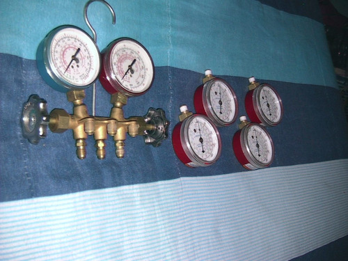 manifold refrigeración  charge and discharge
