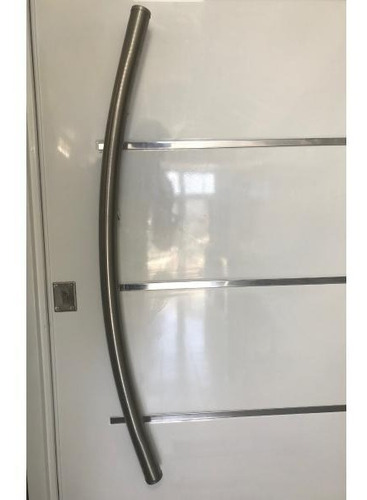 manija barral curvo acero inoxidable puerta porton 100 cm