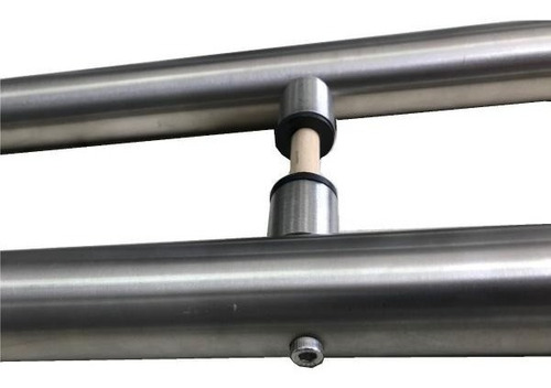 manija barral doble acero inox redondo blindex puertas 120