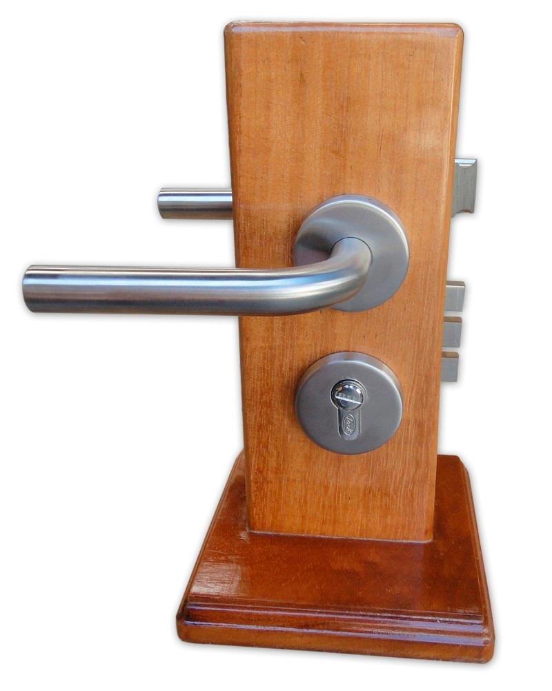 Manija de acero inoxidable tipo chatel para ba o lock for Manija para taza de bano