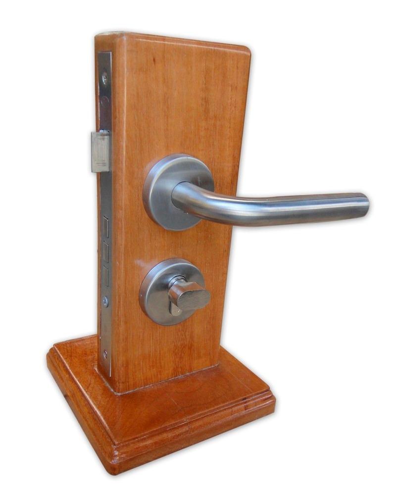 Manija de acero inoxidable tipo chatel para ba o lock for Agarraderas para bano acero inoxidable
