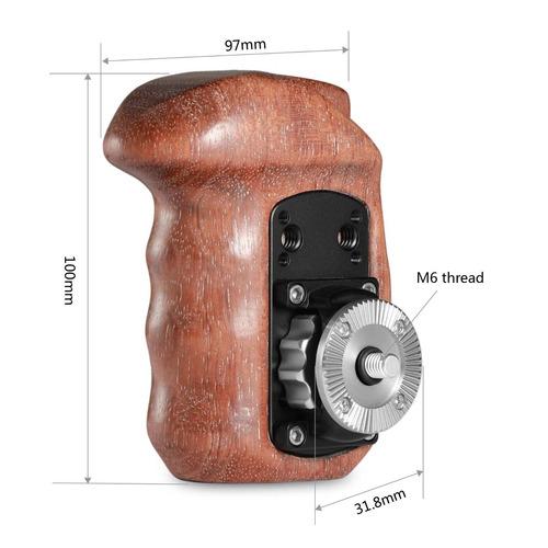 manija de madera del lado derecho smallrig con roseta arri p