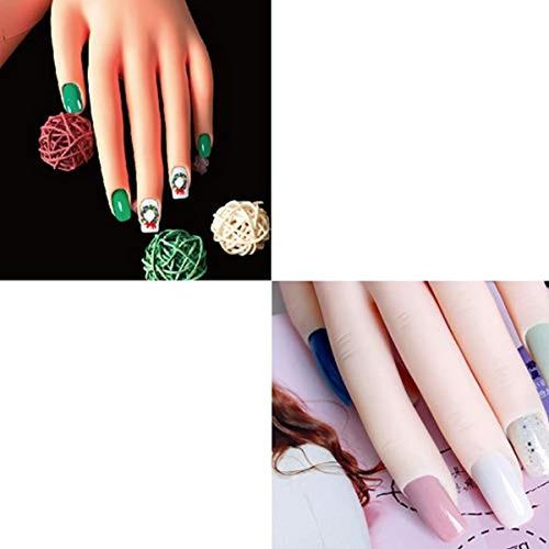 manija de práctica para uñas acrílicas manicura