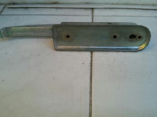 manija manivela de metal de heladera antigua