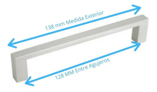 manija para mueble uc15 aluminio anodizado 128mm emr