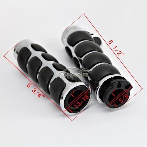 manilares lujo1pulgada motos negro cromado honda shadow