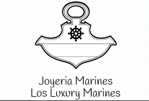 manilla brazalete anchor bañado en oro