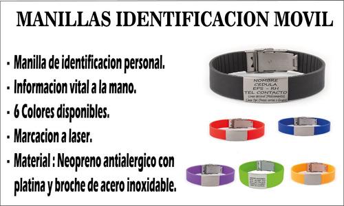 manilla brazalete movil identificacion personal envio gratis
