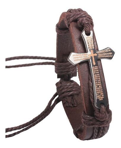 manilla cuero cuerda padre nuestro español - color marron