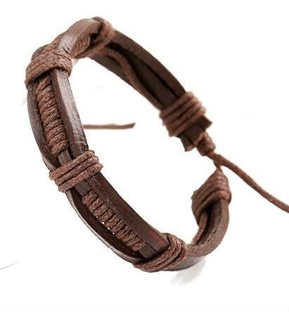 manilla cuero hecha a mano - color marron