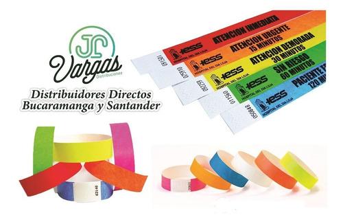 manilla de seguridad brazaletes papel tyvek eventos 1000 und