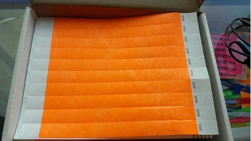 manilla de seguridad brazaletes papel tyvek eventos 400 und