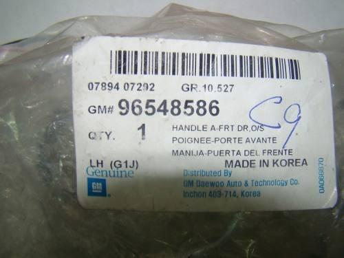 manilla del ext izq optra cromada 04-06 96548586 gm original