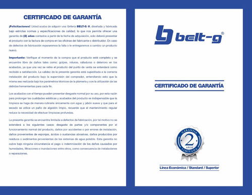 manilla metal monomando axel 35 mm. belt-g blue gri-1724